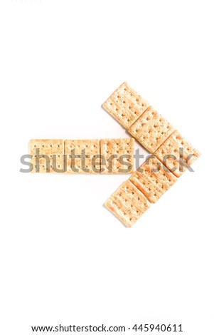 Vegetable crackers on white background