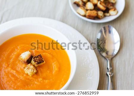 Vegetable Cream Soup - stock photo