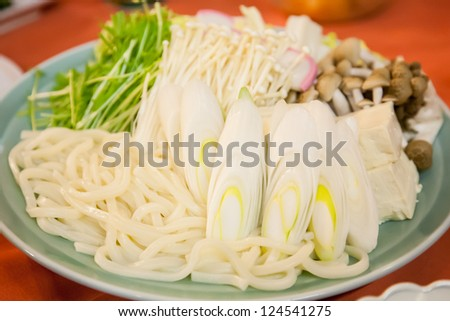 vegetable for hot pot - stock photo