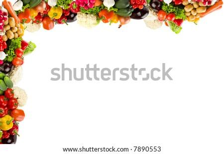 Vegetable frame - stock photo