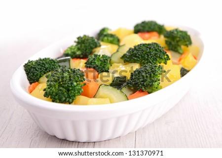 vegetable gratin - stock photo