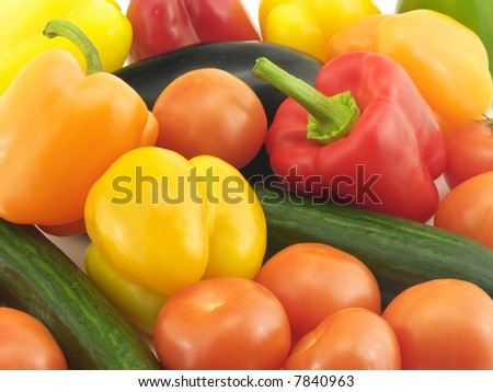 Vegetable ingredients for salad - stock photo