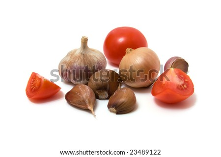 vegetable isolated on white