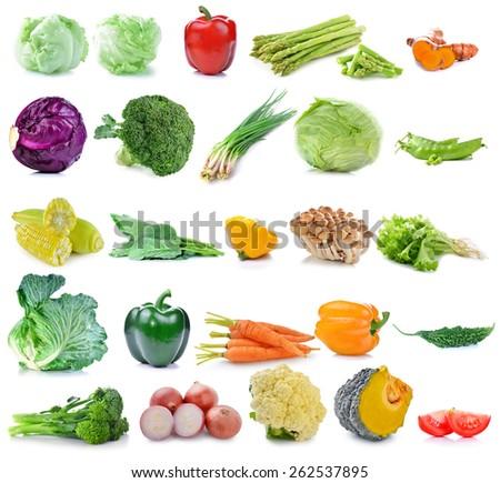 vegetable isolated on white background - stock photo