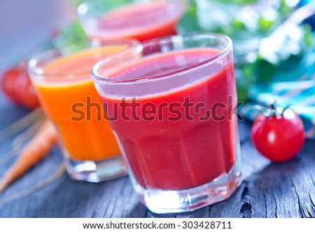 vegetable juice - stock photo