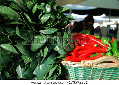 Vegetable market - stock photo