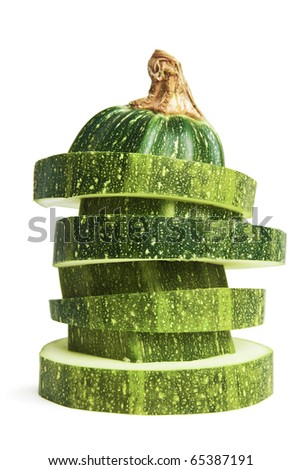 vegetable marrow isolated on a white background - stock photo