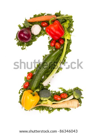"""Vegetable number """"2"""" - stock photo"""