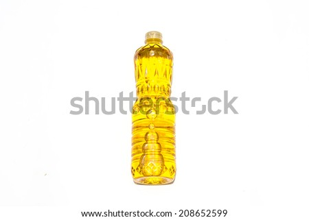 vegetable oil on white background  - stock photo