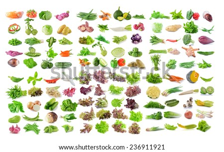 vegetable on White Background - stock photo