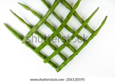 Vegetable pattern on white background - stock photo