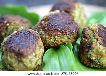 Vegetable patties - stock photo