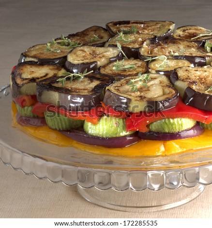 vegetable patty - stock photo