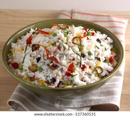 vegetable pilaf - stock photo