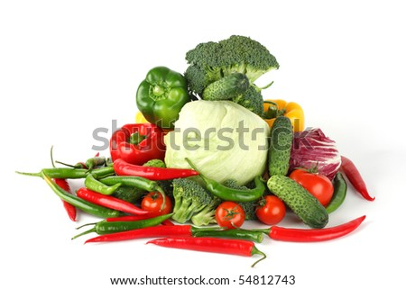 vegetable pile - stock photo