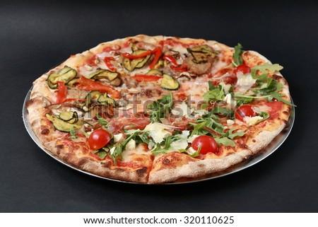 VEGETABLE PIZZA - stock photo