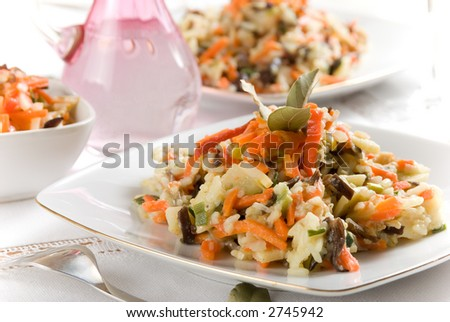 Vegetable rice salad