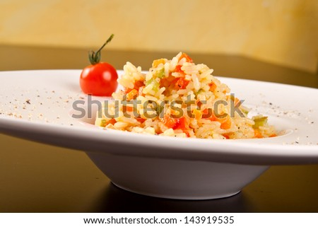 Vegetable risotto - stock photo