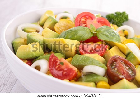 vegetable salad - stock photo