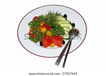 Vegetable salad diet