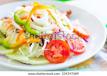 vegetable salad dish on the table
