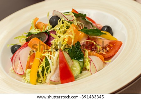 Vegetable salad Italian Misto