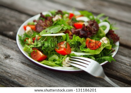 vegetable salad on plate. salad