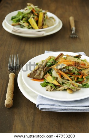 vegetable salad served for two person