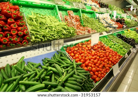 Vegetable sales stand in the market