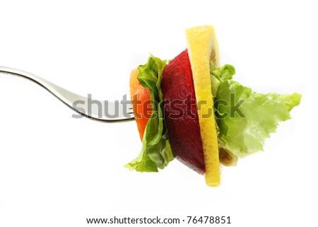 Vegetable sandwich - stock photo
