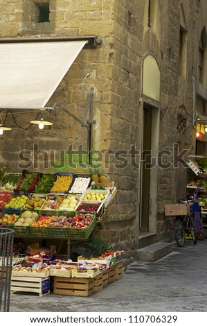 Vegetable shops in Firenze - stock photo