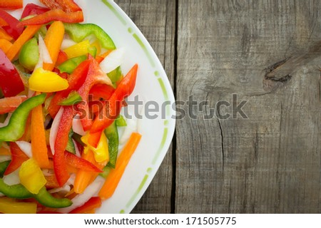 Vegetable slices - stock photo
