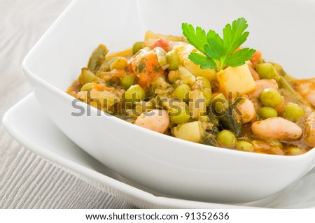 Vegetable soup. - stock photo