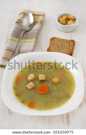 vegetable soup with beans and carrot