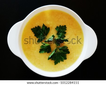 vegetable yellow soup