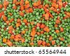 vegetables and frozen foods - stock photo