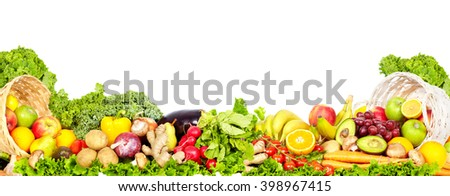 Vegetables and fruits. - stock photo