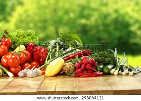 vegetables and garden place  - stock photo