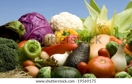 Vegetables assortment. All in focus. - stock photo