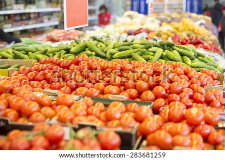 Vegetables at City Market - stock photo