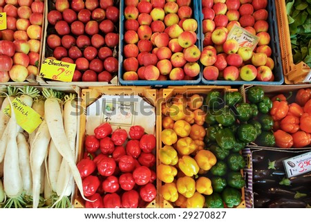 vegetables at market