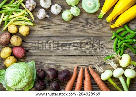 vegetables background - stock photo