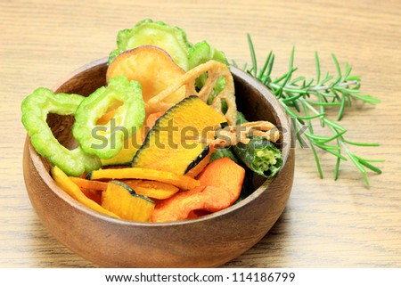 vegetables chips - stock photo