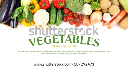 Vegetables collection, Vegetables isolated. Set of different Vegetable. Vegetables on white background. Mixed Vegetables. Healthy food. Diet Set. Fresh farmers market Vegetables. Nutrition, Vitamin. - stock photo