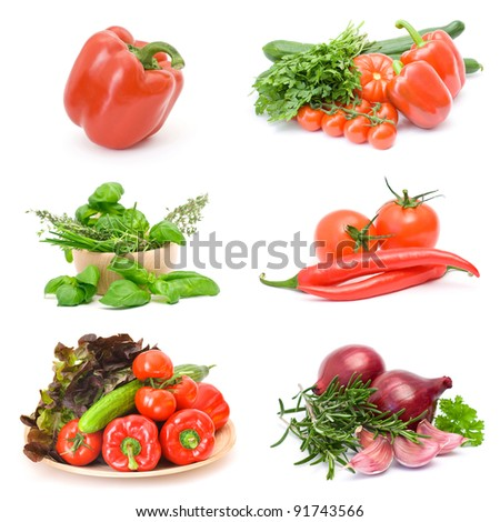 vegetables collections - stock photo
