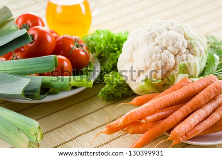Vegetables. Food background - stock photo