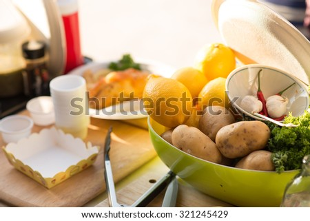 Vegetables for cooking - stock photo
