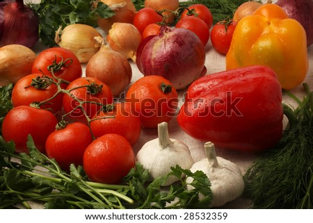Vegetables for preparation of catchup.