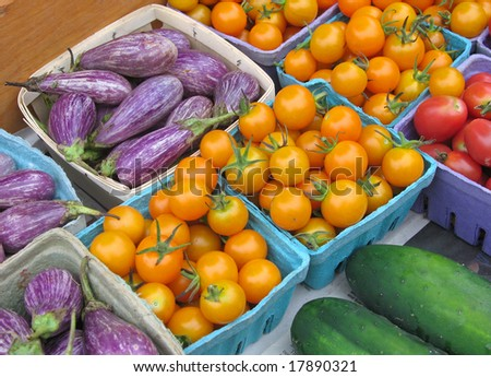 Vegetables for sale at a farmers' market