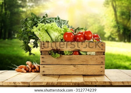 vegetables from market  - stock photo